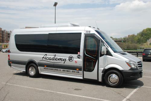 Academy Bus Fleet - 15 Passenger Bus to Rent - Mercedes Mini Bus