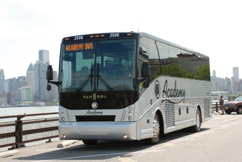 Van Hool Bus >> Academy Bus Fleet 38 Passenger Bus To Rent Van Hool Cx Coach